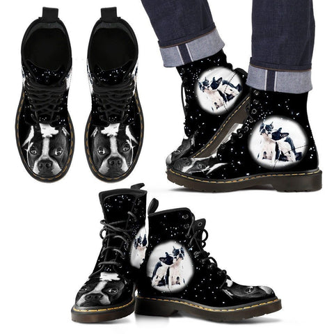Boston Terrier Boots For Men- Express Shipping