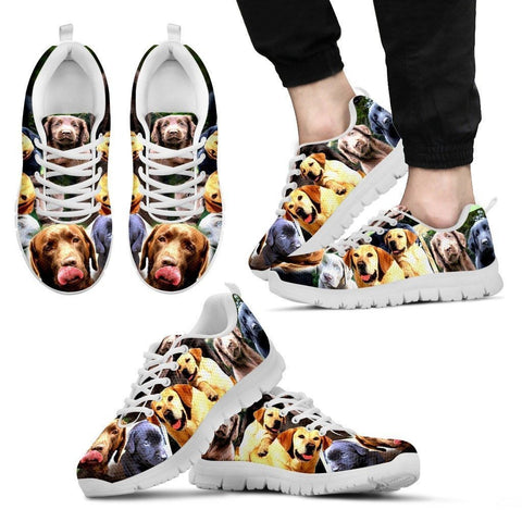 Multiple Labrador Retriever Print (Black/White) Running Shoes For Men-Limited Edition-Express Shipping