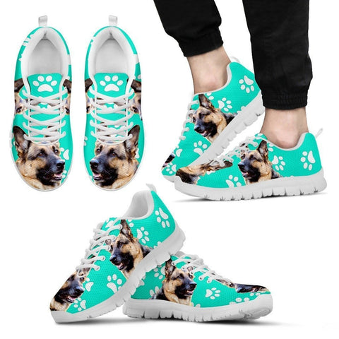 Paws Print German Shepherd (Black/White) Running Shoes For Men-Limited Edition-Express Shipping