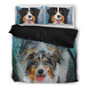 Amazing Australian Shepherd Print Bedding Set- Free Shipping