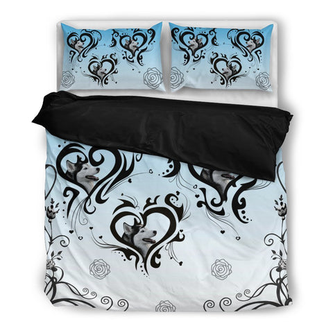 Valentine's Day Special-Siberian Husky Print Bedding Set-Free Shipping