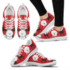 Bichon Frise Christmas Running Shoes For Women- Free Shipping