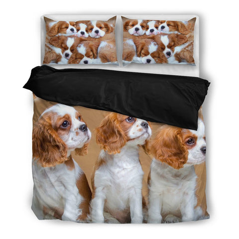 Cute Cavalier King Charles Spaniel Bedding Set- Free Shipping