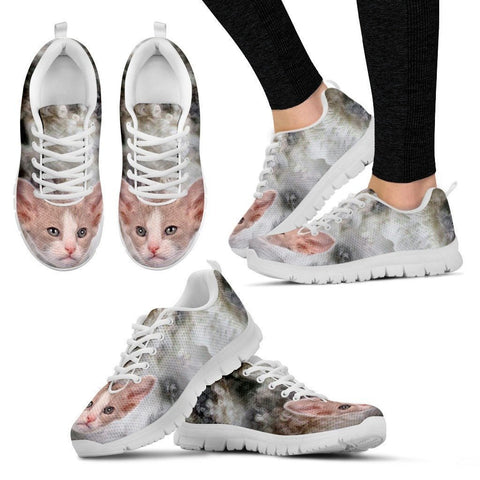 Beautiful LaPerm Cat Print Sneaker For Women- Free Shipping