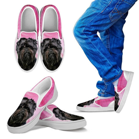 Affenpinscher Print Slip Ons For Kids- Express Shipping