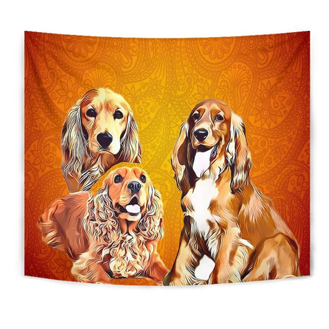 Cocker Spaniel Print Tapestry-Free Shipping