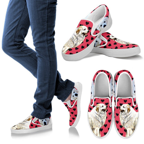 Valentine's Day Special-Great Pyrenees Dog Print Slip Ons For Women- Free Shipping