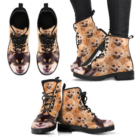 Cute Pomeranian Print Boots For Women- Free Shipping