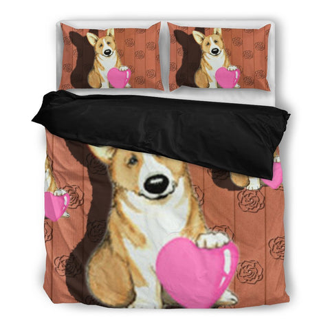 Valentine's Day Special-Pembroke Welsh Corgi Print Bedding Set-Free Shipping