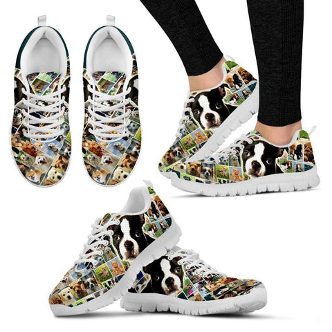 Lovely Boston Terrier Print-Running Shoes For Women-Express Shipping