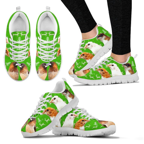 Society Finch (Bengalese Finch) Bird Christmas Running Shoes For Women- Free Shipping