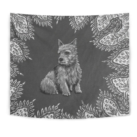 Cute Norwich Terrier Print Tapestry-Free Shipping