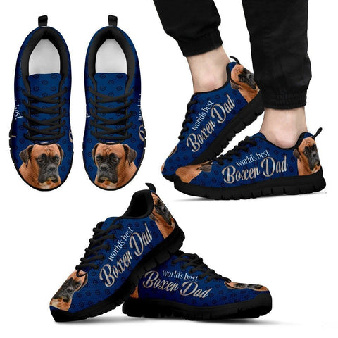 'World's Best Boxer Dad' Running Shoes-Father's Day Special