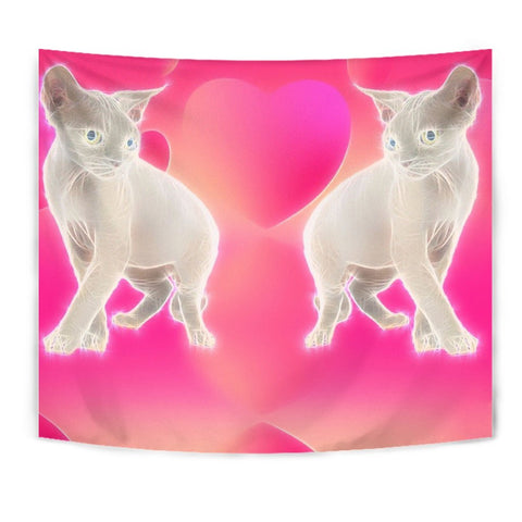 Devon Rex Cat Print Tapestry-Free Shipping