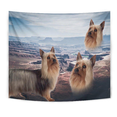 Cute Australian Silky Terrier Print Tapestry-Free Shipping