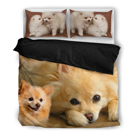 Cute Pomeranian Print Bedding Set- Free Shipping