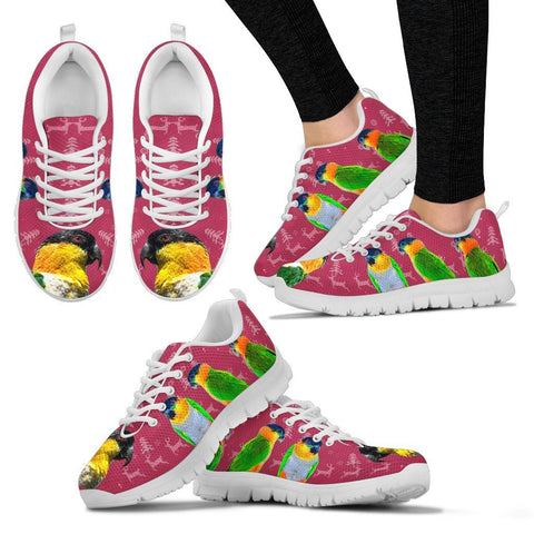 Caique Parrot Christmas Running Shoes For Women- Free Shipping