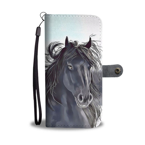Friesian Horse Print Wallet Case- Free Shipping