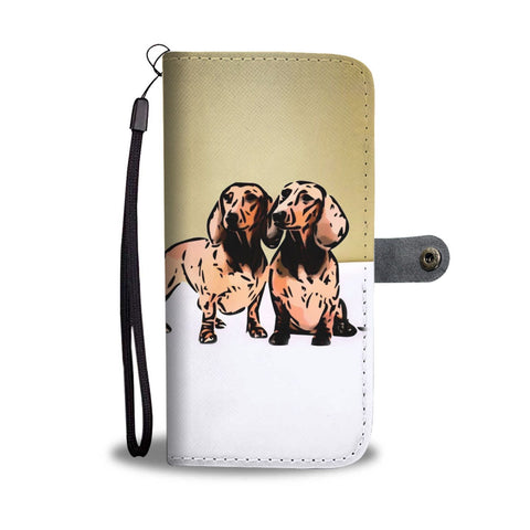 Amazing Dachshund Dog Print Wallet Case-Free Shipping
