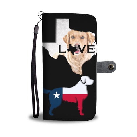 Golden Retriever Dog TX Love Print Wallet Case-Free Shipping-TX State