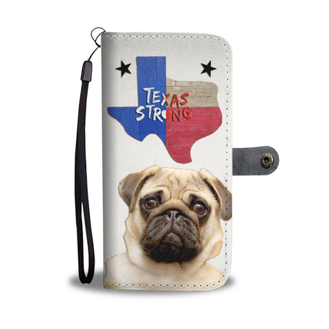 Amazing Pug Dog Print Wallet Case-Free Shipping-TX State
