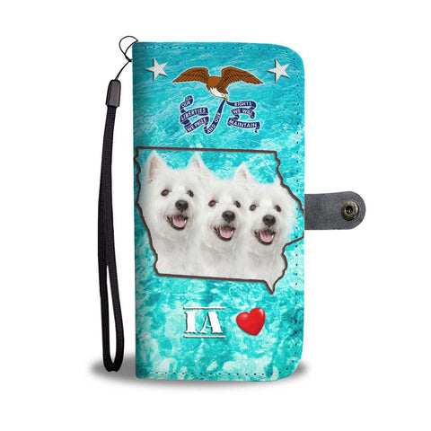 West Highland White Terrier Print Wallet Case-Free Shipping-IA State