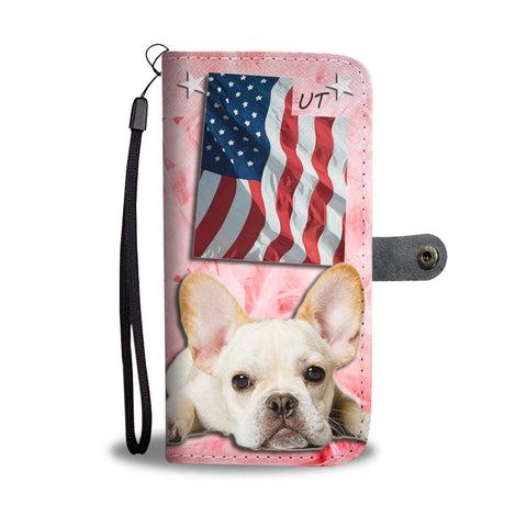 Lovely French Bulldog Print Wallet Case-Free Shipping- UTState