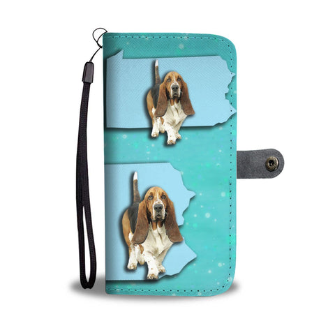Cute Basset Hound Dog Print Wallet Case-Free Shipping-PA State