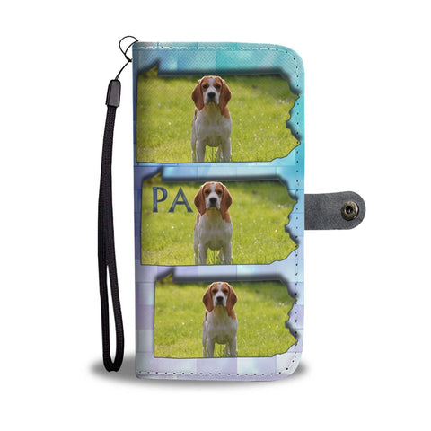Cute Beagle Dog Print Wallet Case-Free Shipping-PA State
