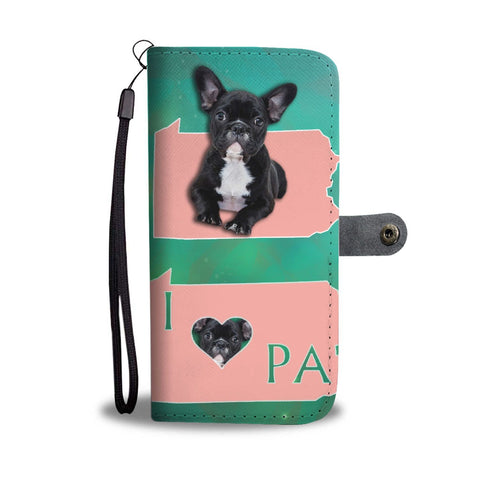 Cute French Bulldog Print Wallet Case-Free Shipping-PA State