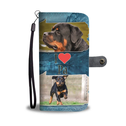 Rottweiler Dog Print Wallet Case-Free Shipping-PA State