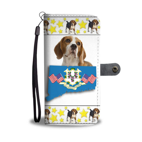 Beagle Print Wallet Case-Free Shipping-CT State
