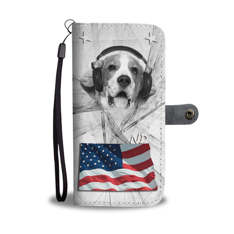 Beagle Dog Print Wallet Case- Free Shipping-ND State