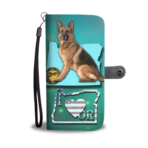 Amazing German Shepherd Print Wallet Case-Free Shipping-OR State