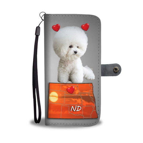 Cute Bichon Frise Print Wallet Case-Free Shipping-ND State