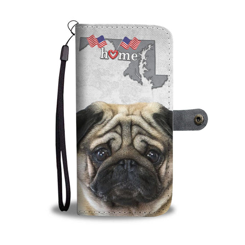 Pug Dog Print Wallet Case-Free Shipping-MD State