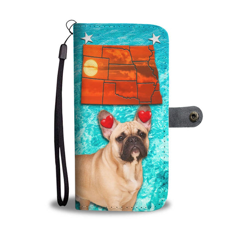 French Bulldog Print Wallet Case-Free Shipping- ND State