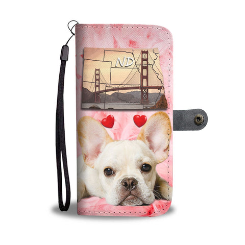 Cute French Bulldog Print Wallet Case-Free Shipping- ND State