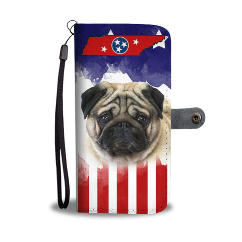 Pug Dog Print Wallet Case-Free Shipping-TN State