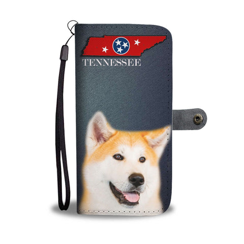Akita Dog Print Print Wallet Case-Free Shipping-TN State