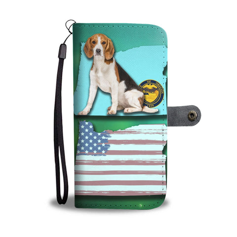 Beagle Dog Print Wallet Case-Free Shipping-OR State