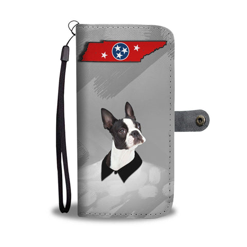 Boston Terrier Print Wallet Case-Free Shipping-TN State