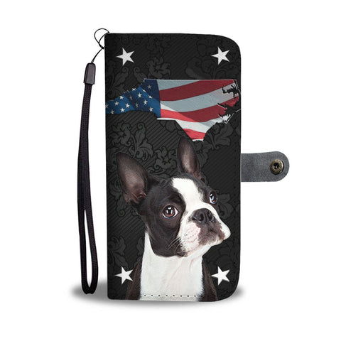 Boston Terrier Print Wallet Case- Free Shipping-NC State