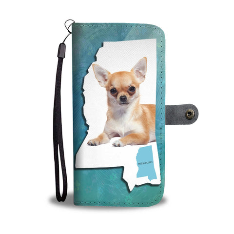 Cute Chihuahua Dog Print Wallet Case-Free Shipping-MS State