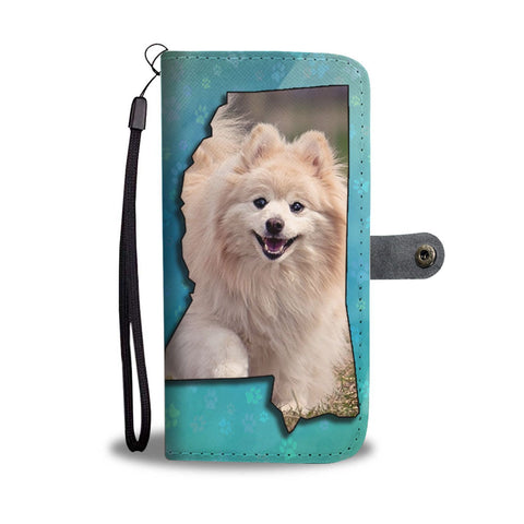 Cute Pomeranian Dog Print Wallet Case-Free Shipping-MS State
