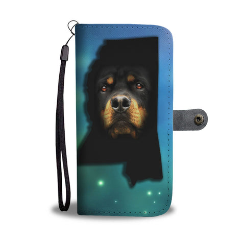 Rottweiler Dog Print Wallet Case-Free Shipping-MS State