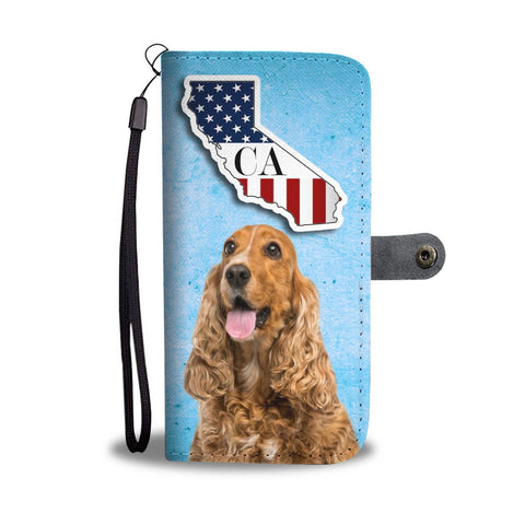 Cocker Spaniel Print Wallet Case-Free Shipping-CA State