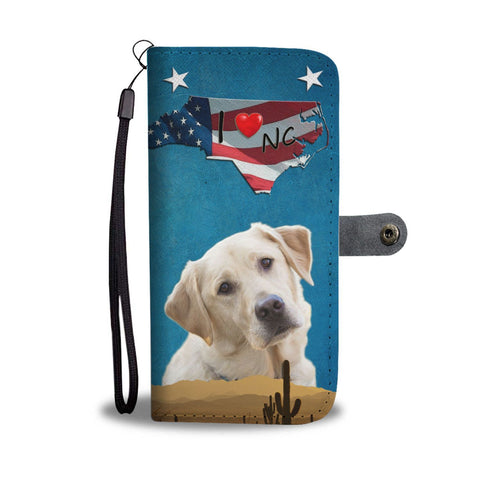 Labrador Retriever Print Wallet Case- Free Shipping-NC State