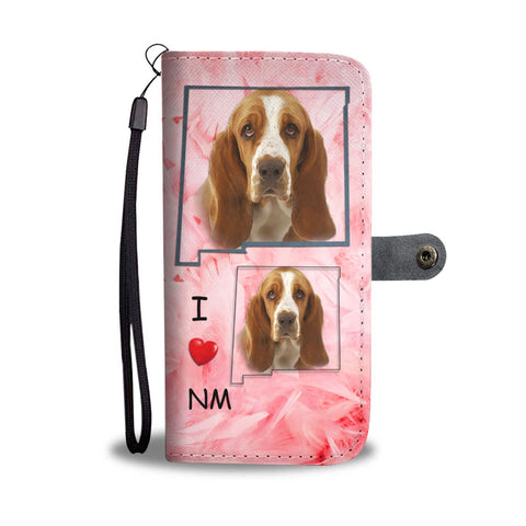 Basset Hound Print Wallet Case-Free Shipping-NM State