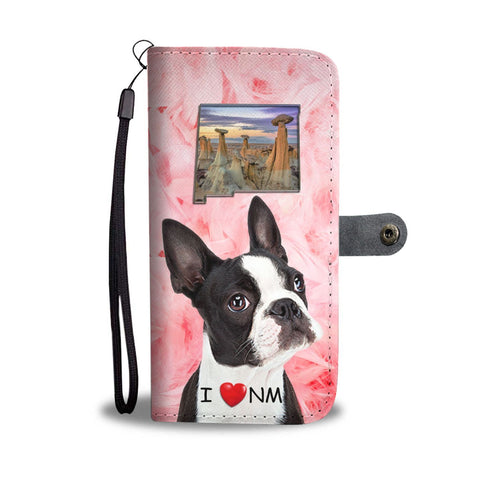 Lovely Boston Terrier Print Wallet Case-Free Shipping-NM State